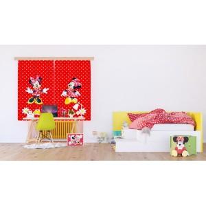 Minnie egeres függöny, piros