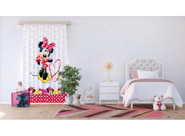 Minnie egér pöttyös függöny