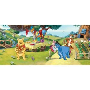 Micimackó piknikezik gyerekszoba poszter (202 cm x 90 cm)