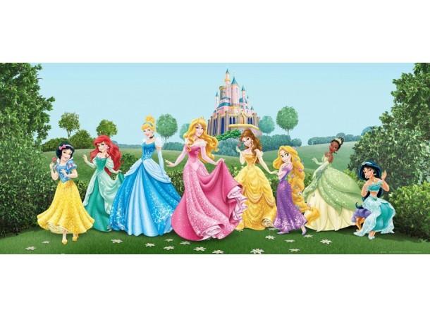 Hercegnők gyerekszoba poszter (202 cm x 90 cm)