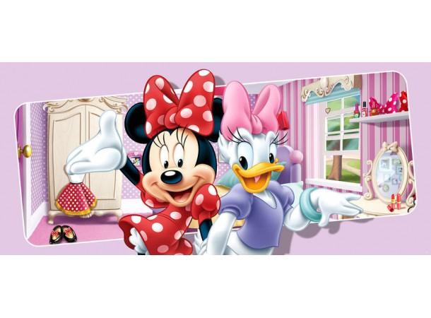 Minnie és Daisy gyerekszoba poszter (202 cm x 90 cm)