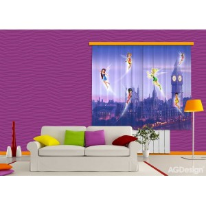 Csingiling lila gyerekfüggöny (180 x 160 cm)