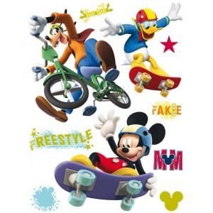 Mickey egér, Donald kacsa, Goffy falmatrica gyerekszobába (65 x 85 cm)