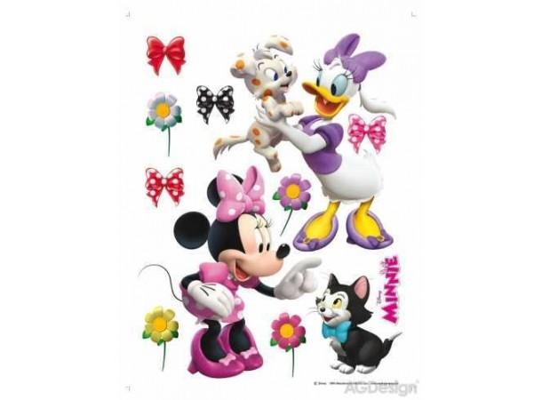 Minnie egér és Daisy kacsa gyerekszoba falmatrica (65 x 85 cm)
