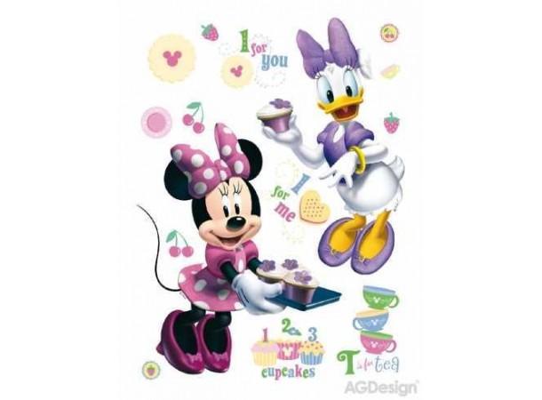 Minnie egér és Daisy kacsa cukrászdája gyerekszoba falmatrica (65 x 85 cm)