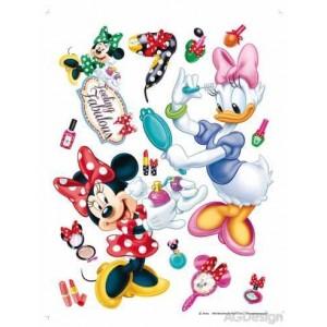 Minnie egér és Daisy kacsa szépségszalon gyerekszoba falmatrica (65 x 85 cm)