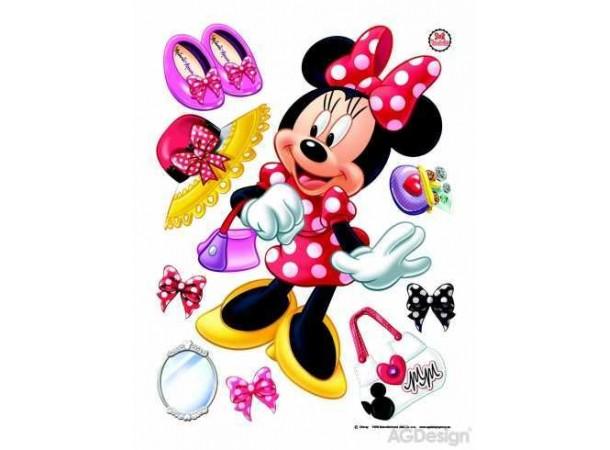 Minnie egér gyerekszoba falmatrica (65 x 85 cm)