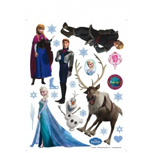 Jégvarázs, Frozen, Elsa falmatrica, gyerekszoba (65 x 85 cm)
