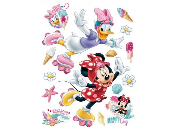Minnie egér és Daisy kacsa fal matrica, gyerekszoba (65 x 85 cm)