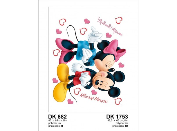 Mickey és Minnie gyerekszoba falmatrica (42,5 x 65 cm)