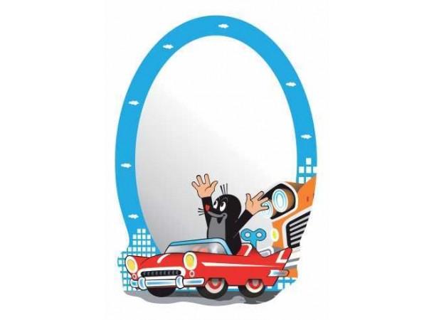 Kisvakond autót vezet tükör