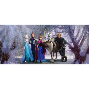 Jégvarázs és a rénszarvas gyerek poszter (202 cm x 90 cm)