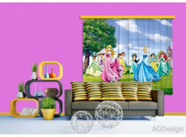 Hercegnők a szabadban gyerek függöny, blackout (280 x 245 cm)
