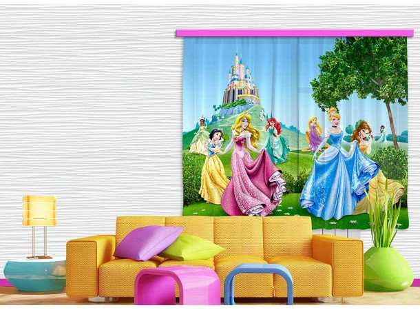 Hercegnős gyerek függöny (180 x 160 cm)