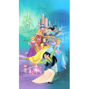 Walt Disney hercegnők gyerek függöny, sötétítő (140 x 245 cm)