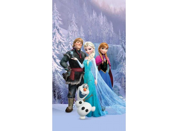 Jégvarázs, Frozen, Elsa és barátai függöny, sötétítő (140 x 245 cm)