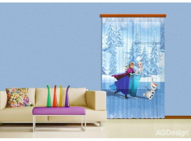 Jégvarázs, Elsa és Anna függöny (140 x 245 cm)