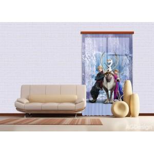 Jégvarázsos függöny, Anna, blackout (140 x 245 cm)