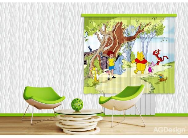 Micimackós gyerek függöny (180 x 160 cm)
