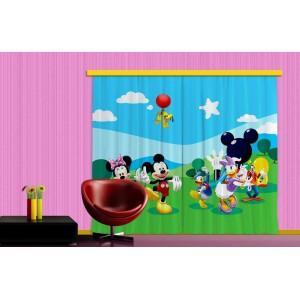 Minnie, Mickey, Daisy kacsa függöny (280 x 245 cm)