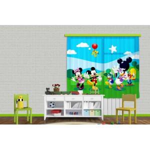 Minnie, Mickey függöny (180 x 160 cm)