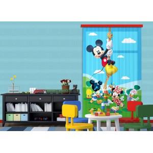 Mickey egér kötélen mászik függöny (140 x 245 cm)
