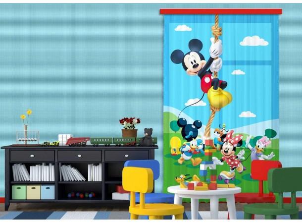 Mickey egér kötélen mászik sötétítő függöny (140 x 245 cm)