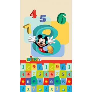 Mickey egér és számok gyerek függöny, blackout (140 x 245 cm)