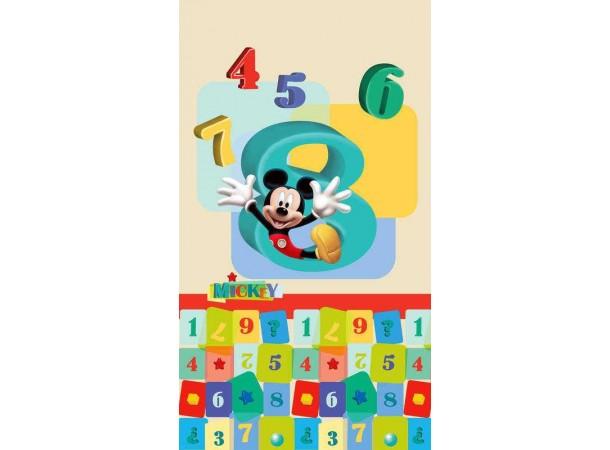 Mickey egér és számok gyerek függöny, sötétítő (140 x 245 cm)