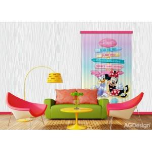 Minnie egér, Daisy kacsa függöny (140 x 245 cm)