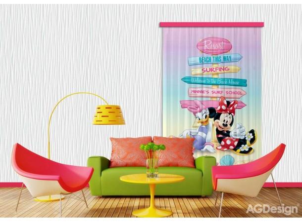 Minnie egér, Daisy kacsa sötétítő függöny (140 x 245 cm)