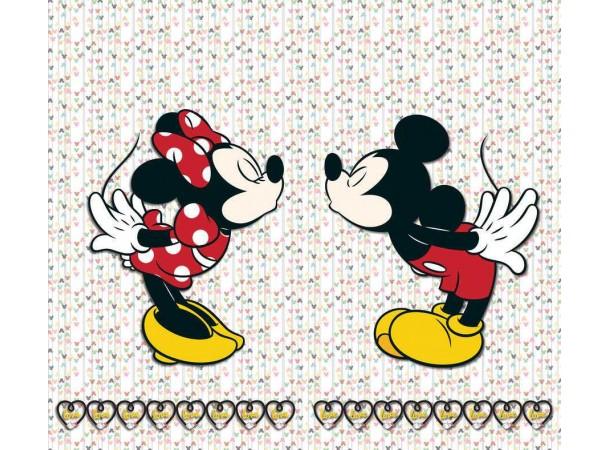 Minnie egér , Mickey egér szerelmes gyerek függöny (180 x 160 cm)
