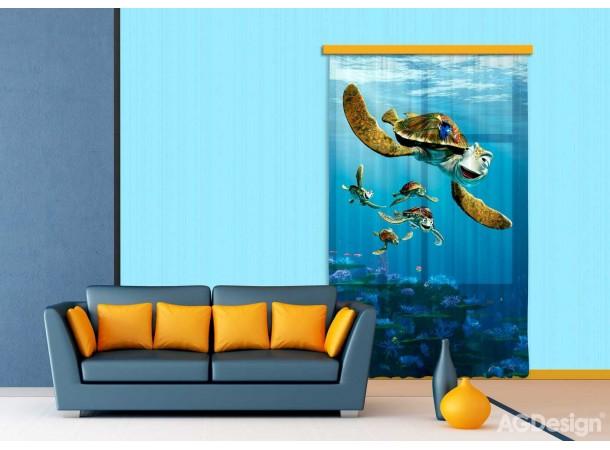 Némó és a teknős sötétítő függöny (140 x 245 cm)