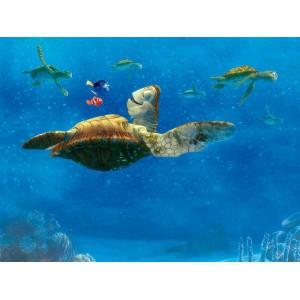 Némó és a teknős poszter (360 cm x 255 cm)